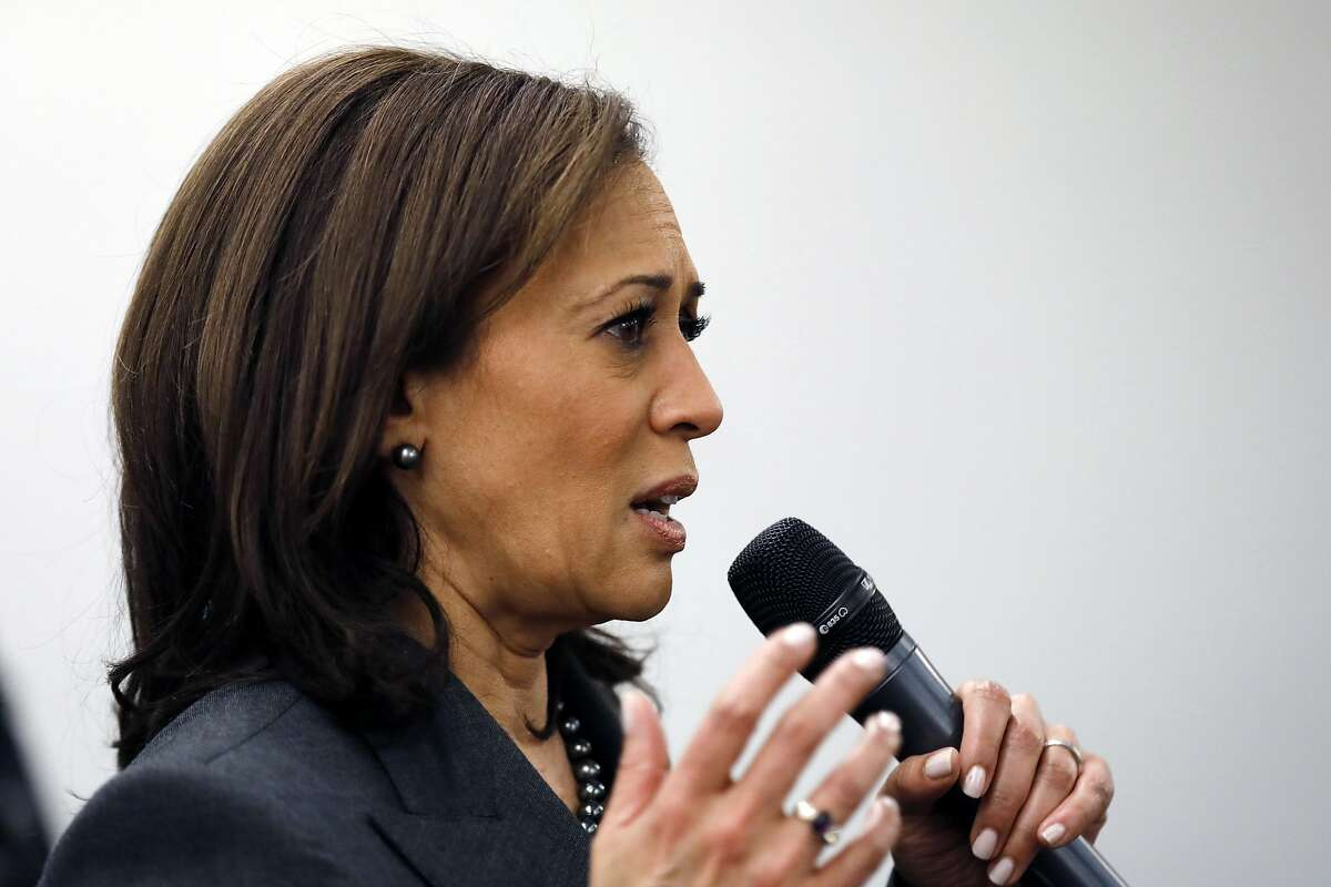 Sen. Kamala Harris, D-Calif., speaks to students at Drake University, Monday, Jan. 28, 2019, in Des Moines, Iowa. Click through the gallery for things you might not know about her.
