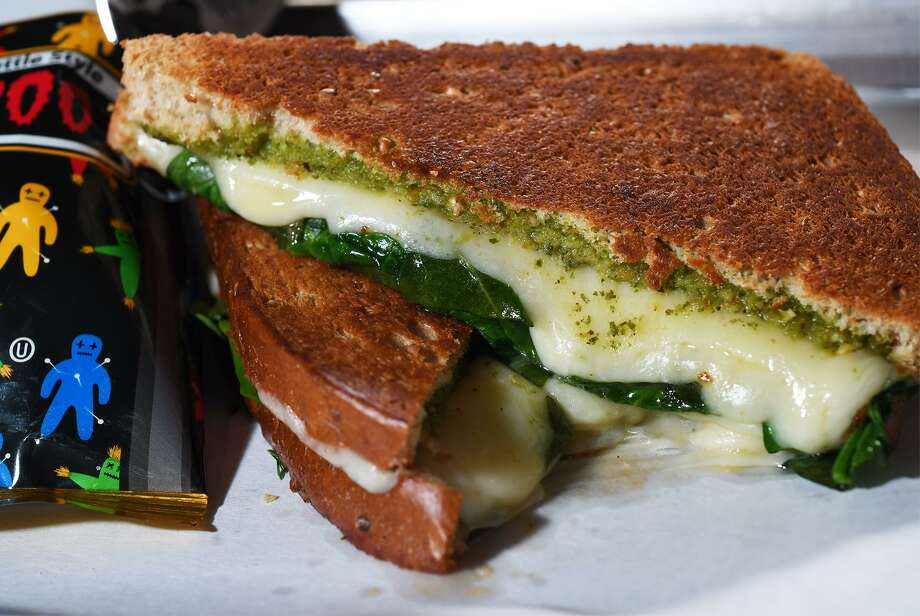 Pesto spinach and and provolone sandwich at The Avenue Coffee & Cafe in Port Neches. The establishment serves coffee, sandwiches and pastries. Photo taken Thursday, 1/24/19 Photo: Guiseppe Barranco/The Enterprise,  Photo Editor / Guiseppe Barranco ©
