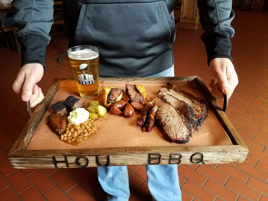 Guest at Super Beef Sunday can load up on barbecue. The sixth annual Super Beef Sunday, which will be held at Saint Arnold Brewing Company on Feb. 3. Photo: J.R. Cohen