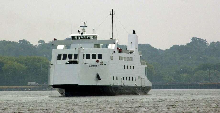 One of Bridgeport & Port Jefferson Steamboat Co. new ferrys in New Haven harbor. Photo: /