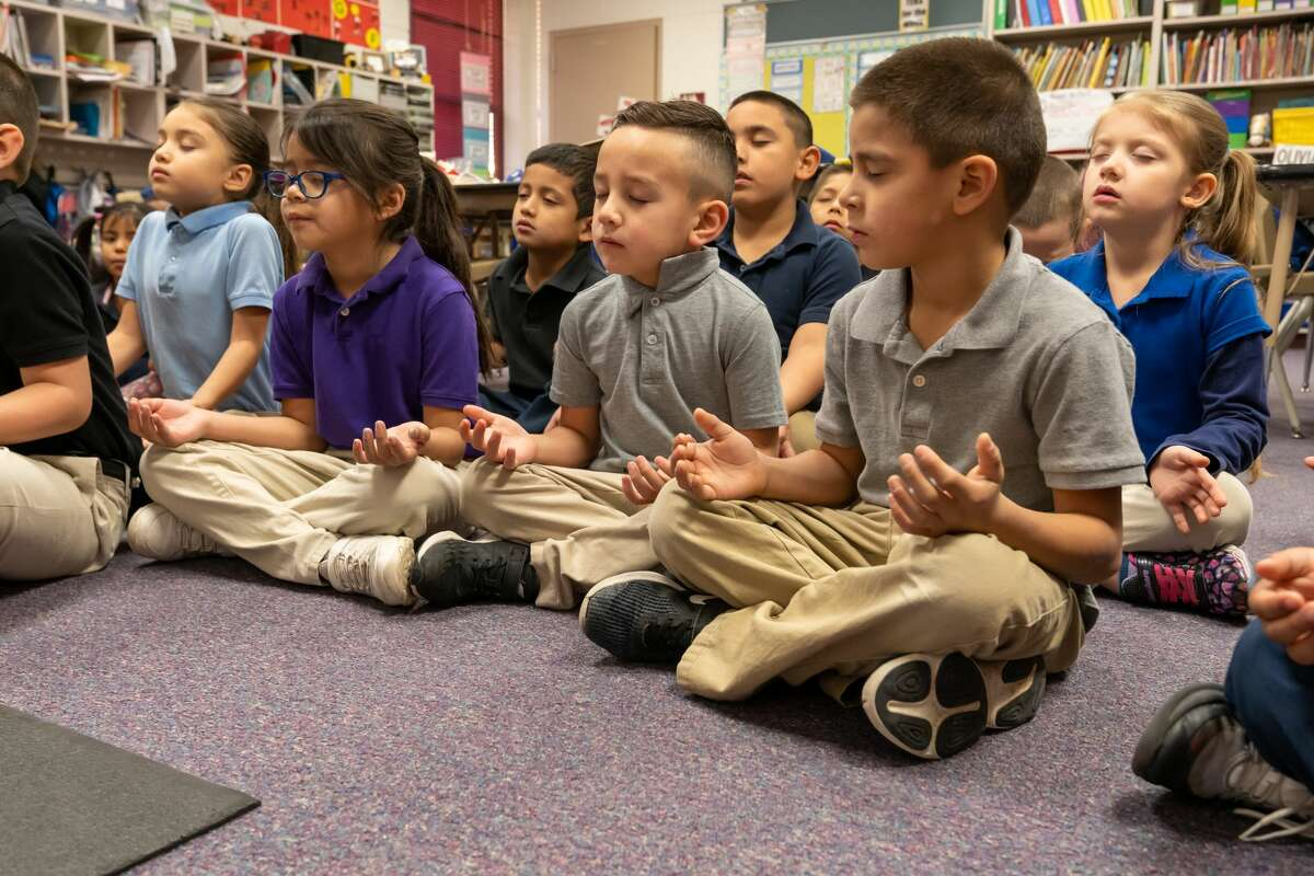 Travis Elementary was the first Midland ISD school to incorporate the Mindfulness Program, which involves relaxation techniques.