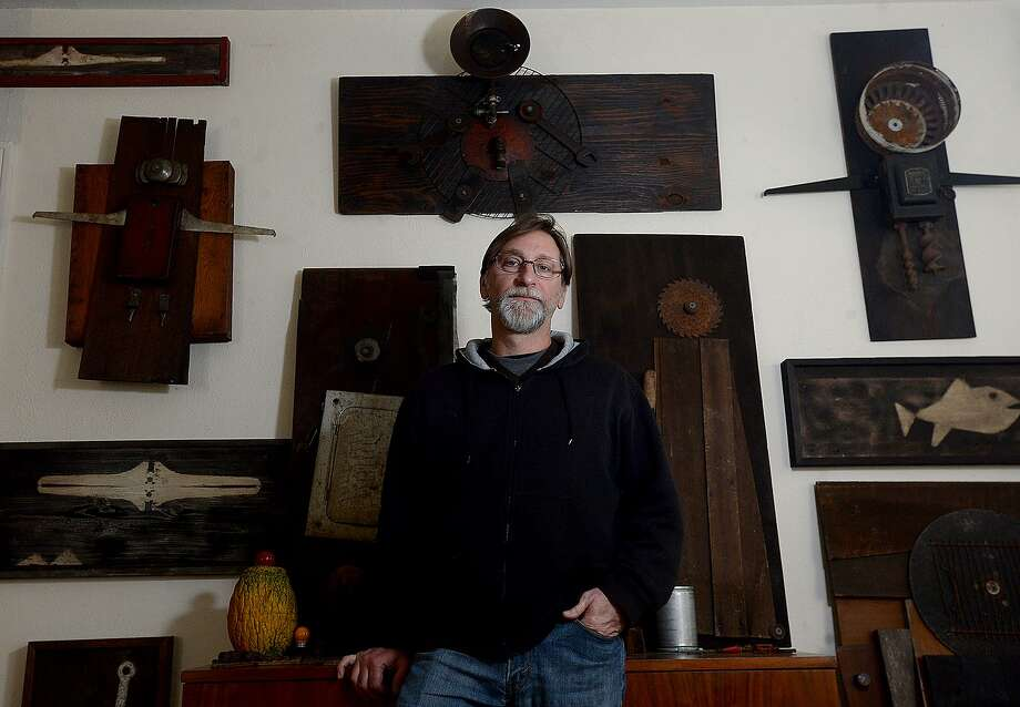 "Beaumont artist and photographer John Fulbright will be featured at the The Art Studio, Inc.'s February monthly exhibit. ""Previously Invisible Worlds"" showcases Fulbright's photography, assemblage and pyrography pieces. An opening reception will be held Saturday, February 2. Photo taken Wednesday, January 22, 2019 Photo by Kim Brent/The Enterprise Photo: Kim Brent / The Enterprise / BEN"