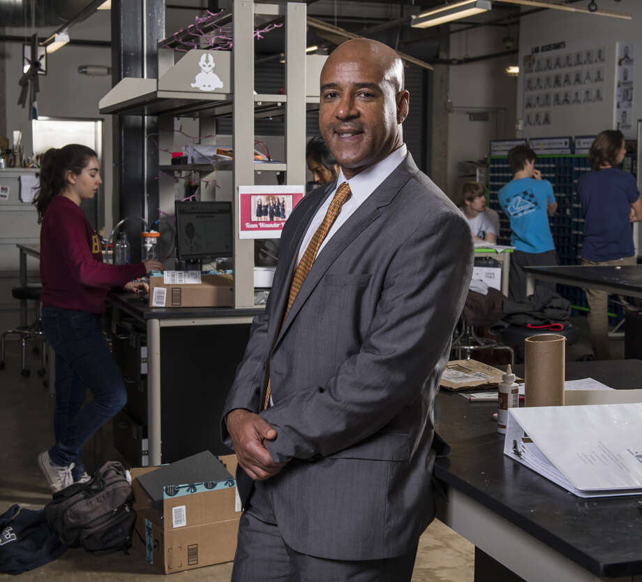 Reginald DesRoches, dean of Rice University's George R. Brown School of Engineering, at a workshop with students.