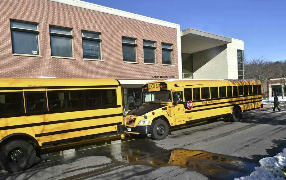 Amity High School in Woodbridge. Photo: Peter Hvizdak / Hearst Connecticut Media File / New Haven Register