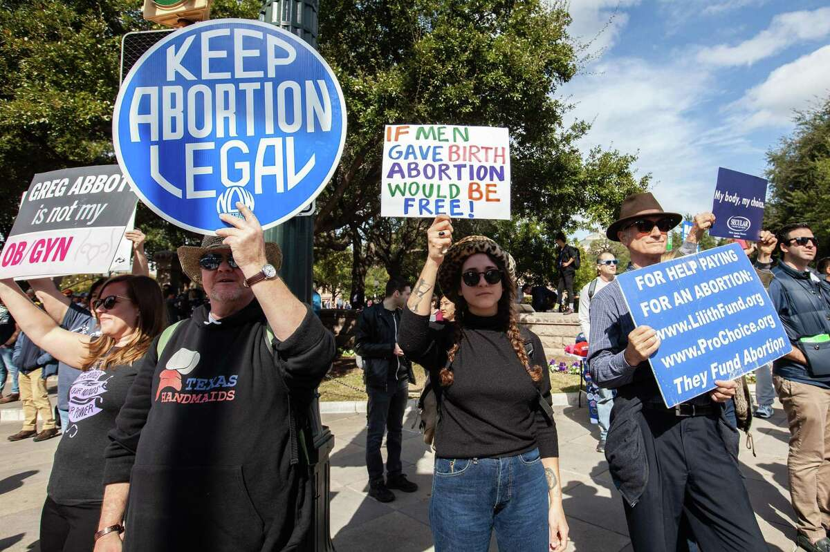 Rae Gonzales, came out to counter protest during the Texas Rally for Life at the Texas State Capitol on January 26, 2019 in Austin, Texas.