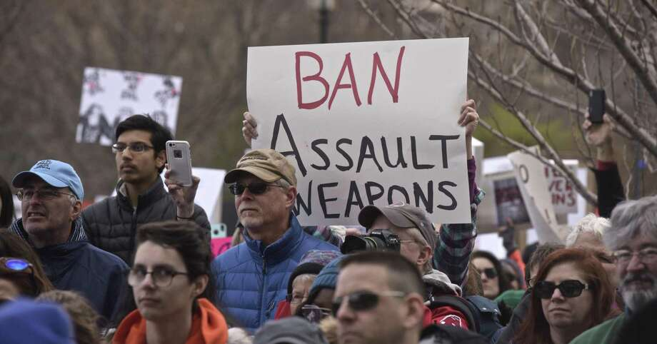 Anti-gun-violence advocates attend the March for Our Lives rally in Hartford in March. Photo: H John Voorhees III / Hearst Connecticut Media / The News-Times