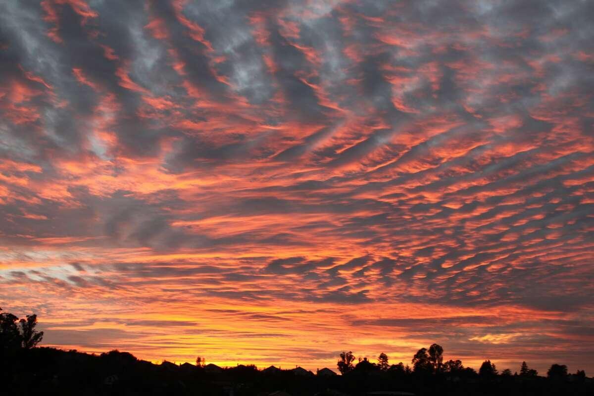 The sunrise seen over Belmont on Monday, Jan. 28, 2019.