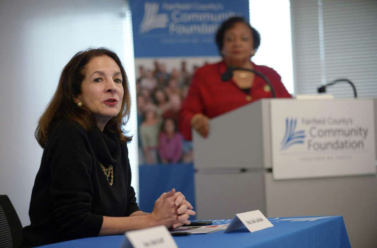 State Representative Gail Lavielle speak as part of a panel as the Fairfield County Community Foundation hosts a legislative forum Wednesday, December 11, 2018, that includes legislative and nonprofit leaders at the Foundation offices in Norwalk, Conn. The event focuses on strengthening nonprofit organizations' relationships with state and local elected officials.