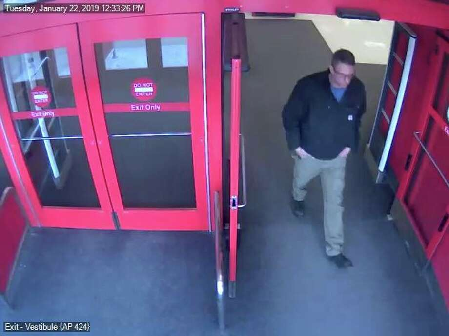 Midland Police are looking for this unidentified suspect seen exiting Target on Tuesday, Jan. 22, 2019. (Photo provided/Midland Police Department Facebook page) Photo: Midland Police Department