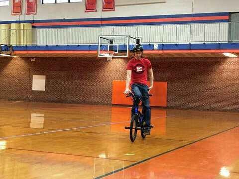 Be their Batman': BMX athlete delivers message on bullying at