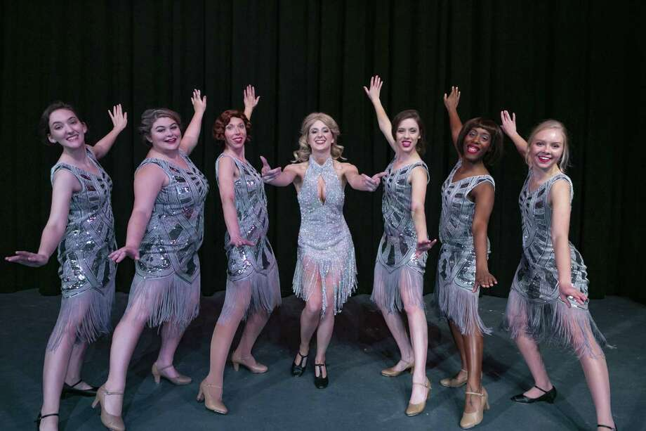 "Sara Preisler, center, as Peggy Sawyer in Stage Right's ""42nd Street"" which continues through Feb. 24 at the Crighton Theatre. She's pictured with other dancers performing the song ""We're In the Money!"" Photo: Photo By Michael Pittman / Michael Pittman all rights reserved"