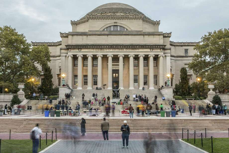 The campus of Columbia University in New York in 2018. Schools that use Pell grants to admit lower-income students are doing so at the expense of lower-middle-class students. Photo: TONY CENICOLA /NYT / NYTNS