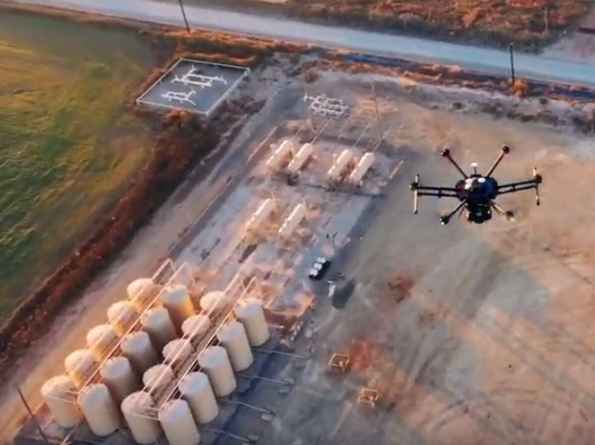 Houston oil field service company Baker Hughes has pledged to achieve net-zero carbon dioxide emissions for its worldwide operations by 2050. The company has launched LUMEN, a drone to detect methane emissions at oil and gas operations.