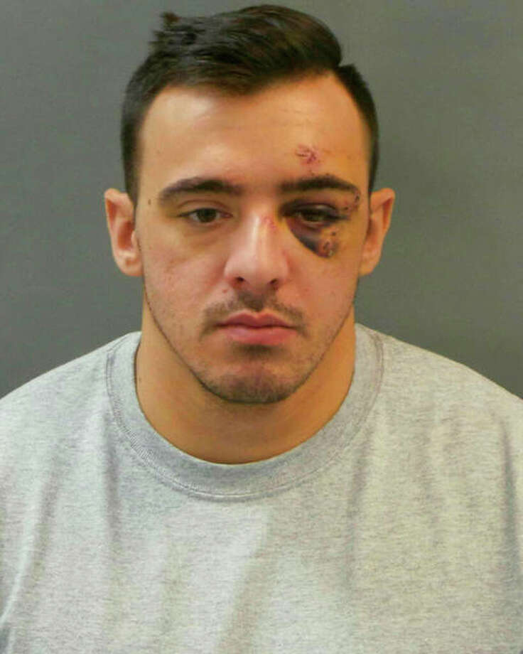 This Jan. 28 booking photo released by St. Louis Police Department shows officer Nathaniel Hendren. Hendren was charged with involuntary manslaughter in the death of another officer, Katlyn Alix. Police say they were playing with guns when one went off. Photo: St. Louis Police Department Via AP, File