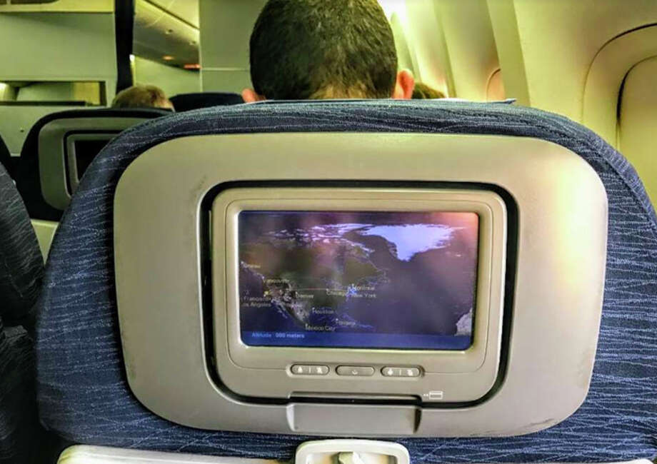 United has dropped fees for live DIRECTV access on its grainy seatback screens- just in time for the Super Bowl Photo: Chris McGinnis