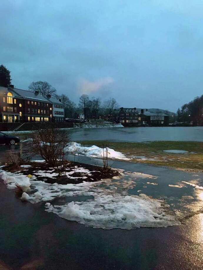 Flooding at Kent School on Jan. 24 after heavy rain fell. Photo: Contributed Photo / Connecticut Post Contributed