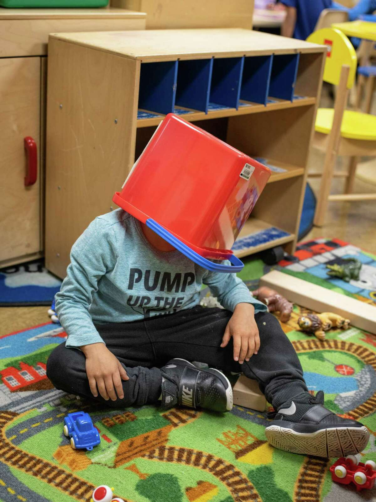 A child plays during a pre-K class at Sun Valley Elementary School. Safe, affordable and quality early education should be a centerpiece of a Texas school system overhaul.