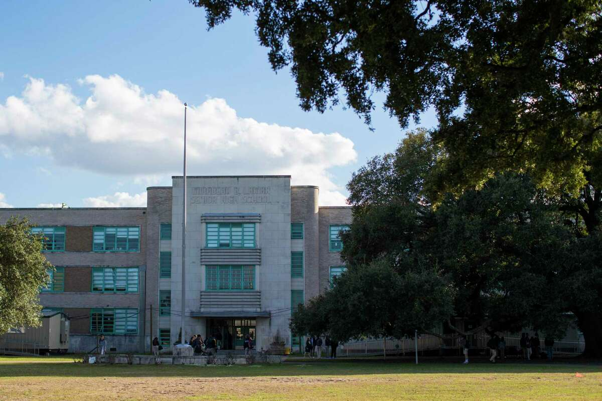 Houston ISD's Lamar High School is pictured in a January file photo. The campus' enrollment is down by about 360 students, or 12 percent, this year.