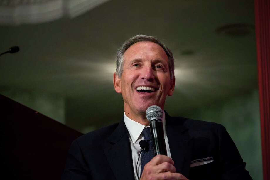 Howard Schultz, chairman and founder of Starbucks Corp., smiles during a conference in New York in 2017. When it comes to his potential run for president in 2020, Schultz's strategists say they hope to overcome this pattern by forcing a national debate about the political process and voter dissatisfaction with both political parties.  Canidates odds to win the presidency in 2020 >>>> Photo: Bloomberg Photo By Michael Nagle / Bloomberg