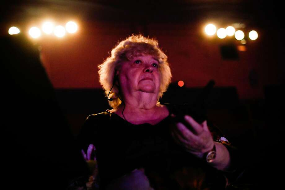 Director Trudi Angel watches the final performance of her students as they perform the Nutracker at the State Street Theater in Oroville, California, on Saturday, Jan. 20, 2019. Trudi's home and ballet school were destroyed in Paradise during the Camp Fire. Photo: Gabrielle Lurie / The Chronicle