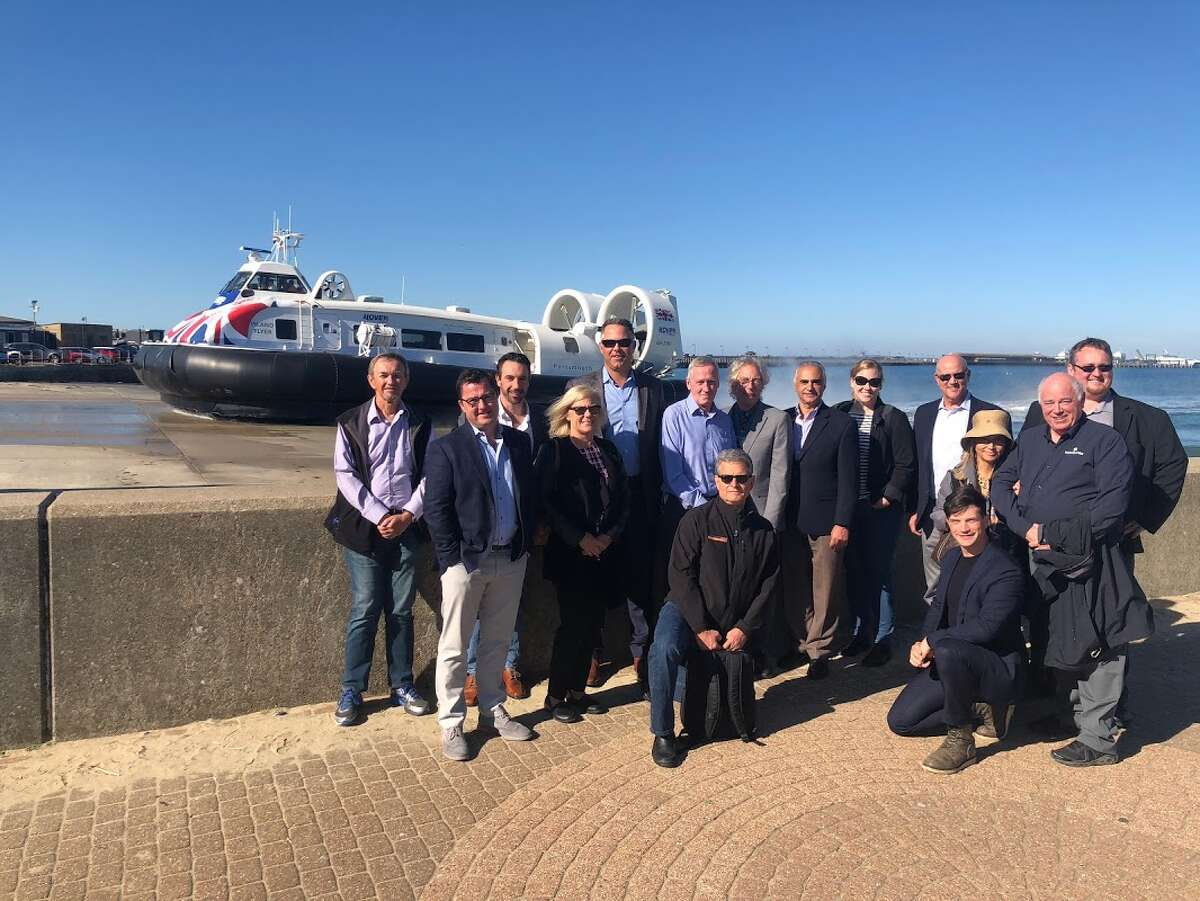 A delegation of Bay Area leaders recently traveled to England to see how hovercrafts might be able to work in the San Francisco BAy.