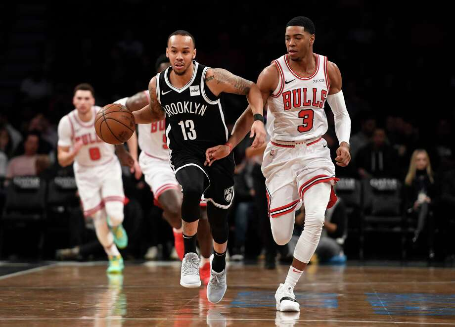 best service 612a3 a2a7a NEW YORK, NEW YORK - JANUARY 29  Shabazz Napier  13 of the Brooklyn