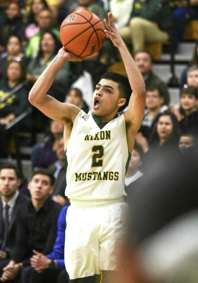 L.J. Herrera led Nixon with 71 made 3s this season. The Mustangs led Class 6A in made 3s with 393. Photo: Danny Zaragoza /Laredo Morning Times File