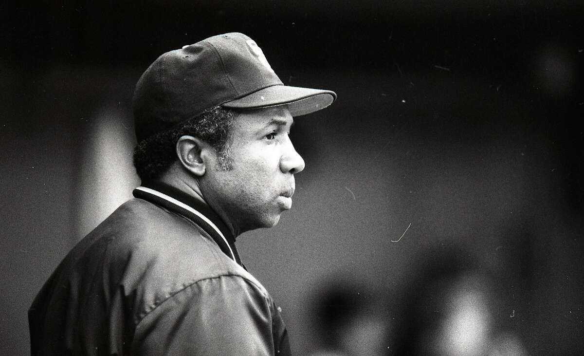 Giants Manager Frank Robinson, June 3, 1983