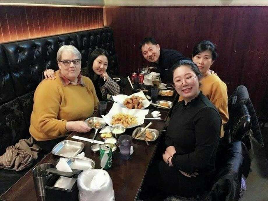 Marilyn Schaar Fruchey with Jiyeon Choi and her family. (Photo provided)