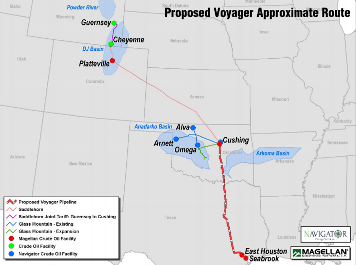 Two crude oil pipeline projects extend open seasons