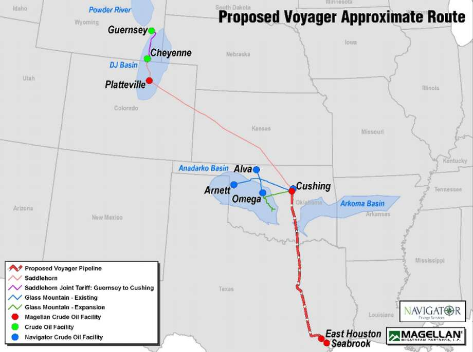 Magellan Midstream Partners LP and Navigator Energy Services are extending the open season to book capacity on the  proposed Voyager Pipeline, a project  to move crude oil and condensate from Cushing, Oklahoma to Houston. Photo: Magellan Midstream Partners LP