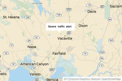 Crash on I-80 causes severe traffic alert near Vacaville