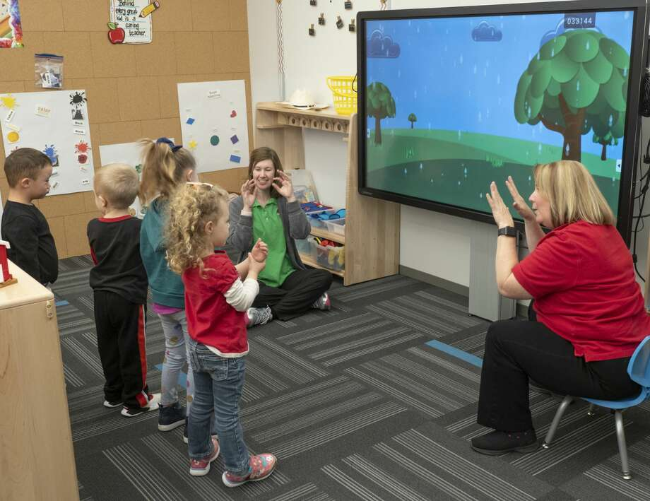 The new Bynum School on Avalon Drive has five classrooms with state-of-the-art technology. The school will be dedicated today. Photo: Tim Fischer/Midland Reporter-Telegram