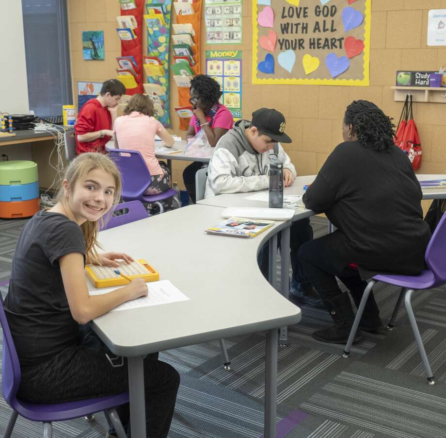 One of the junior high rooms at the new Bynum School facilities. 01/29/19  Tim Fischer/Reporter-Telegram Photo: Tim Fischer/Midland Reporter-Telegram