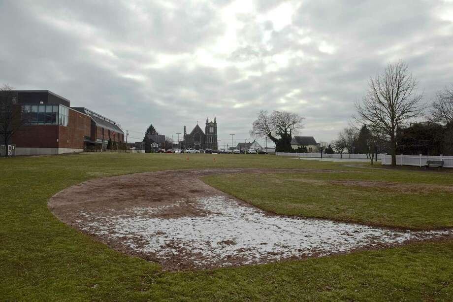 Neighbors of Hamilton Avenue School would like to see improvements to the schools field, they feel it is in poor condition. Friday, January 19, 2019, in Greenwich, Conn. Lucia Jansen, chair of the Representative Town Meeting's Budget Overview Committee, said there was a breakdown in the decision-making process over the project because the school administration did not give proper and complete information to the Board of Education, BET and RTM. Photo: H John Voorhees III / Hearst Connecticut Media / The News-Times