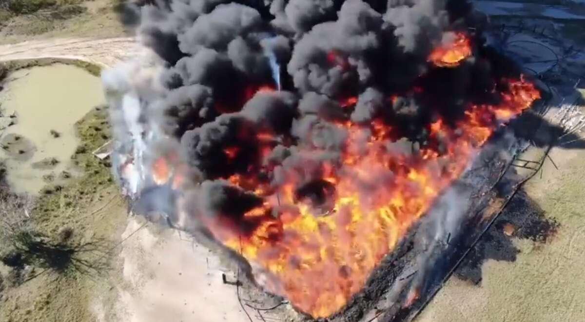 A man whose family owns a small independent oil company said they faced a devastating loss when their small cluster of oil tanks burst into flames on Tuesday.
