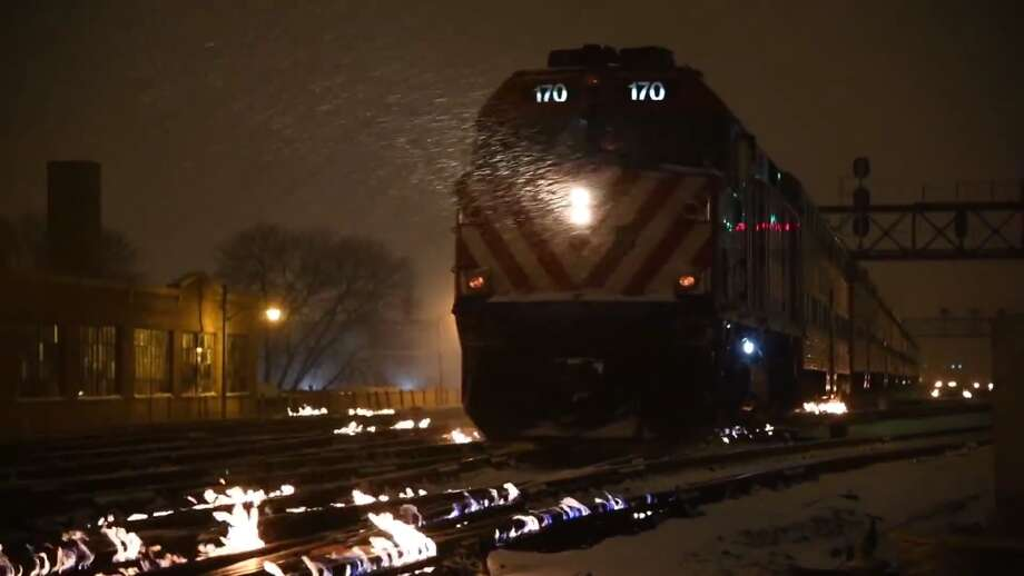Chicago's Metra uses a custom-made gas-fed switch heating system at A-2, its busiest commuter train intersection. Metra footage from 2018 shows the system in use. Photo: Metra