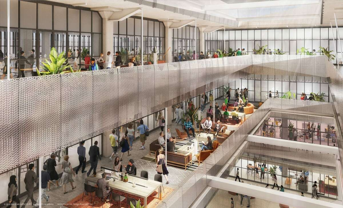 A rendering of the interior space of The Ion, the former Sears building in Midtown that is being redeveloped into an innovation center.
