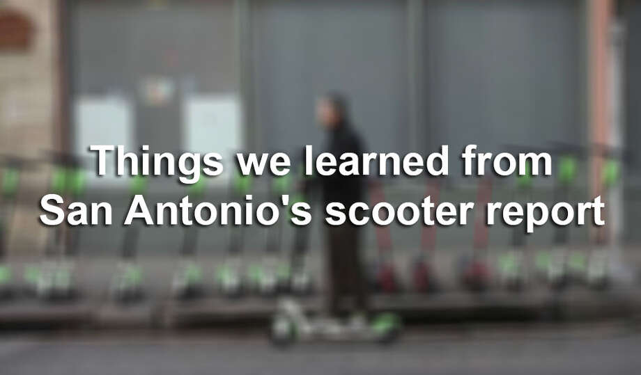 The City of San Antonio recently released a report on dockless vehicles in the city. Click through the slideshow to see information on San Antonio's scooters and dockless bikes, by the numbers. Photo: FILE
