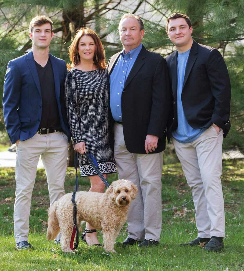 The Deane family from left: Michael, Lisa, Peter and Joe. Photo: Kathryn Schauer / Contributed Photo / 2017 Kathryn Schauer Photography