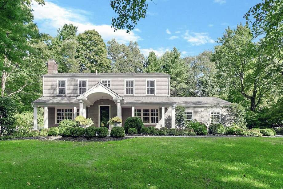 The nine-room, 4,088-square-foot house at 604 Mine Hill Road looks like a typical colonial but inside it has a very modern floor plan and décor.