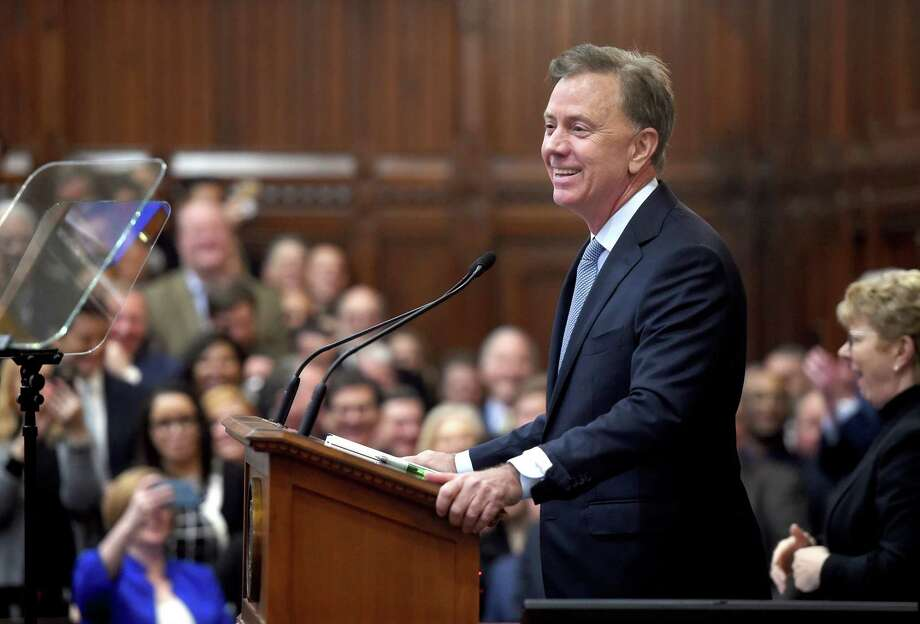 Gov. Ned Lamont delivers the State of the State address to a joint session of the Connecticut General Assembly in Hartford last month. Photo: Arnold Gold / Hearst Connecticut Media / New Haven Register