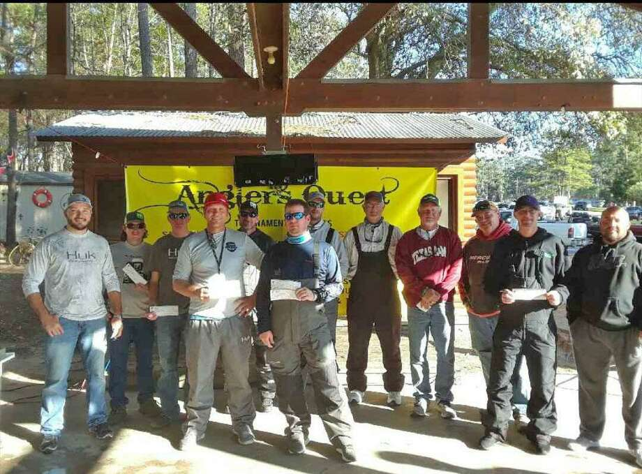 The top seven teams and money winners in the Anglers Quest Team Tournament Number One. Photo: Angler's Quest