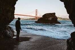 A private view of the Golden Gate Bridge by @oscarwastaken .
