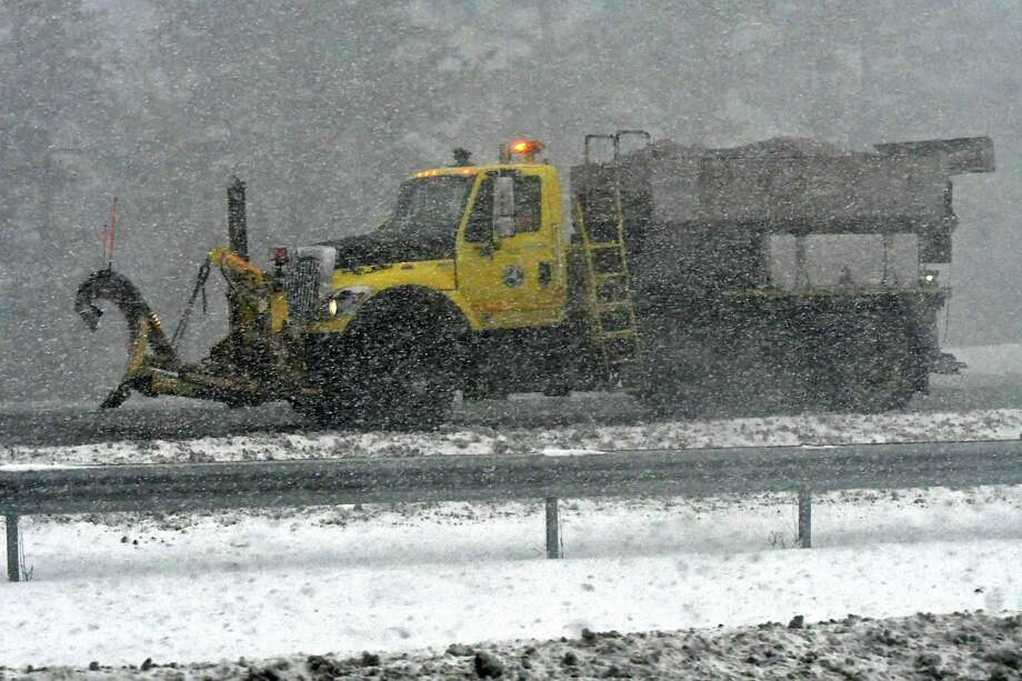 A snow squall causes whiteout conditions on interstate 90 on Wednesday, Jan. 30, 2019 in Guilderland, N.Y. (Lori Van Buren/Times Union) Photo: Lori Van Buren, Albany Times Union / 40046065A