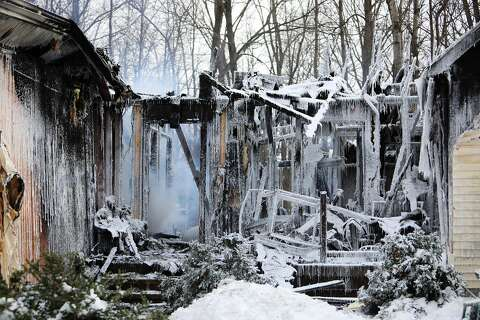 House on E  Degeer Court damaged by fire - Tuesday, Jan  29