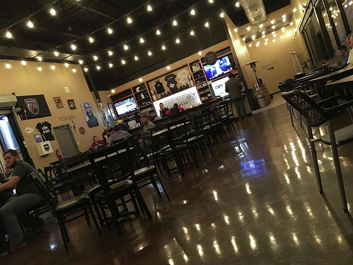 The bar and main dining room of Weathered Souls Brewing Co.