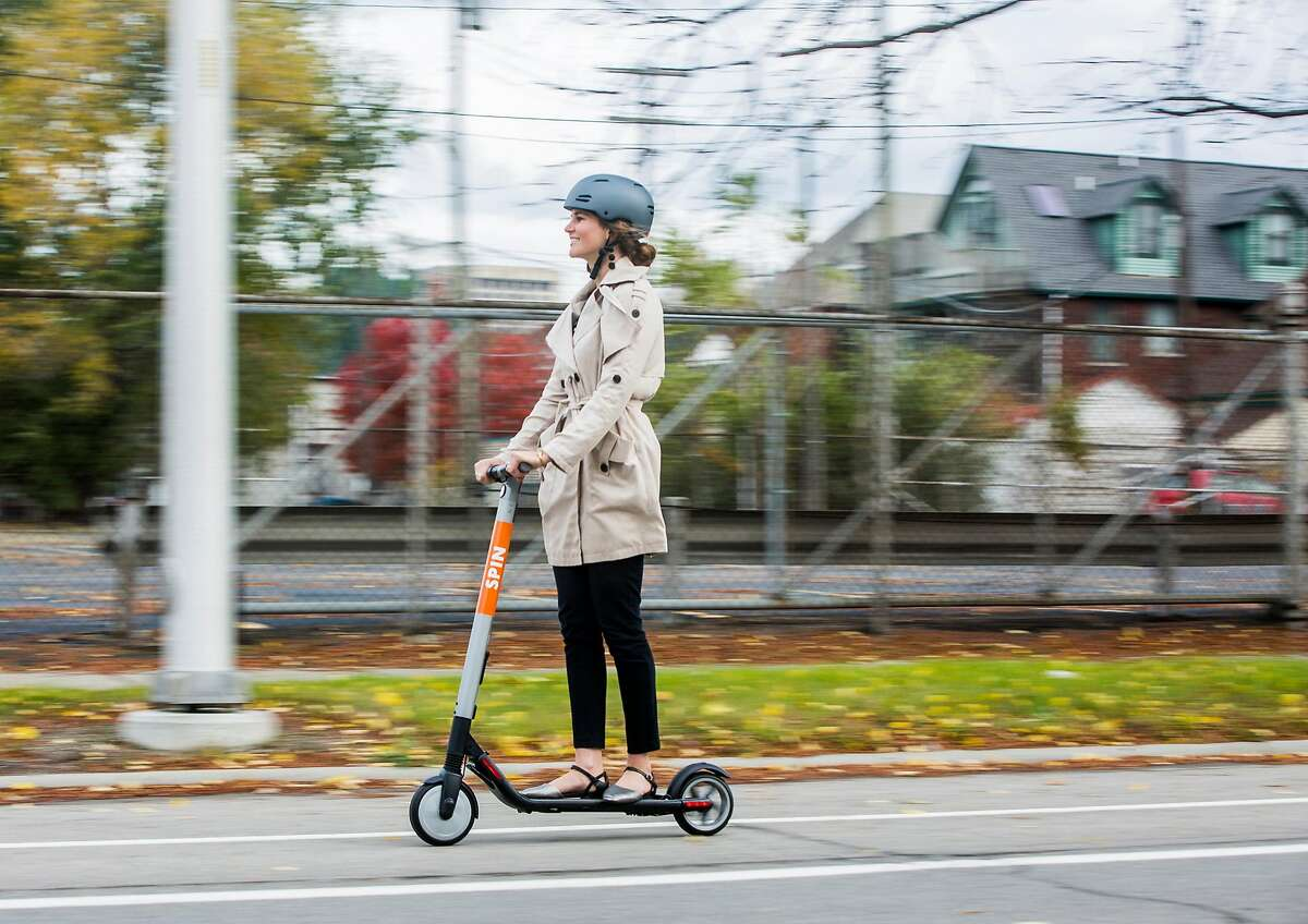 Ford Smart Mobility, LLC acquires Spin, a San Francisco-based electric scooter-sharing company that provides customers an alternative for first- and last-mile transportation. (Ford/TNS)