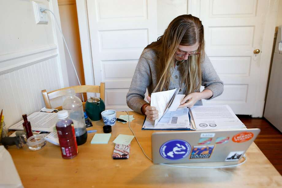 Katie Waddle, 31, says the insurance renewal process through Covered California was a complicated, bureaucratic nightmare. Photo: Amy Osborne / Special To The Chronicle
