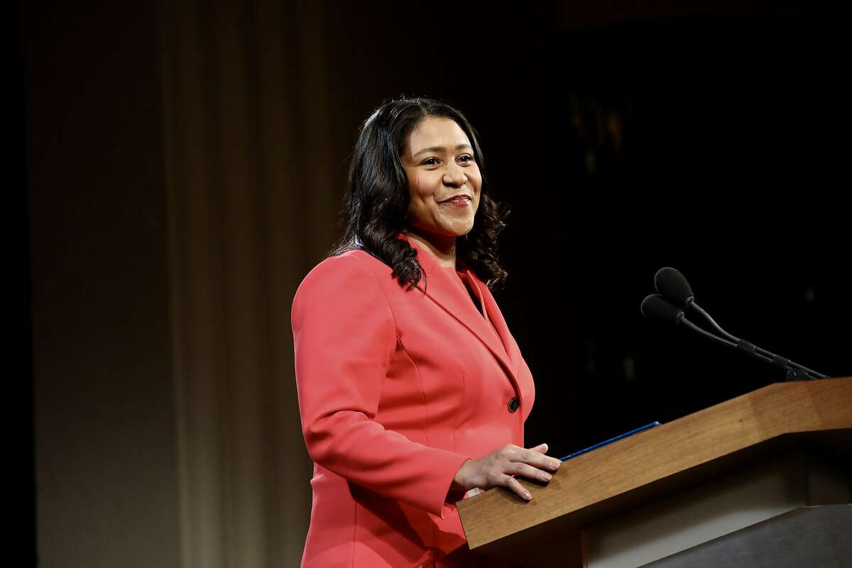 San Francisco Mayor London Breed delivers her State of the City address in San Francisco on January 30, 2019.